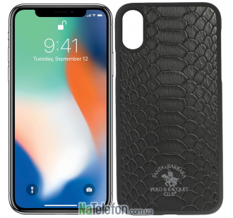 Кожаный чехол Santa Barbara Polo & Racquet Club Knight для iPhone X Black