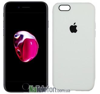 Оригинальный силиконовый чехол для iPhone 6/6s Белый FULL