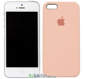 Оригинальный силиконовый чехол для iPhone 5/5s/SE Розовый