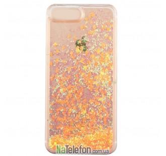 Жидкий чехол Glitter Series 3 для iPhone 7/8 Orange