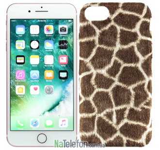 Леопардовый чехол Plush для iPhone 7/8