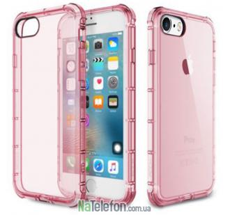 "TPU чехол ROCK Fence series для Apple iPhone 6/6s (4.7"") (Розовый / Transparent pink)"