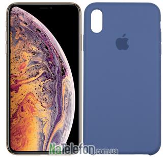 Оригинальный силиконовый чехол для iPhone Xs Max Синий