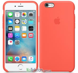 Оригинальный силиконовый чехол для iPhone 6/6s Plus Персиковый