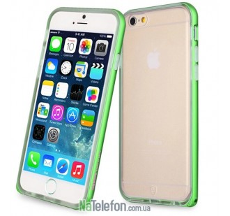 Бампер Metalic Slim для iPhone 6 Rock Green