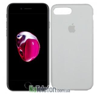 Оригинальный силиконовый чехол для iPhone 7/8 Plus Белый FULL