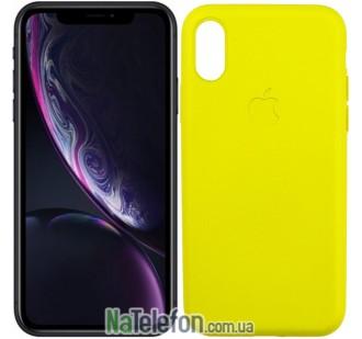 Оригинальный силиконовый чехол для iPhone Xr Желтый