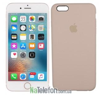 Оригинальный силиконовый чехол для iPhone 6/6s Бежевый FULL
