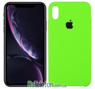 Оригинальный силиконовый чехол для iPhone Xs Max Ярко зеленый