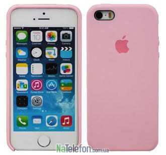 Оригинальный силиконовый чехол для iPhone 5/5s/SE Светло Розовый