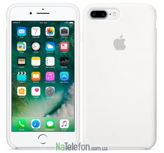 Оригинальный силиконовый чехол для iPhone 7/8 Plus Белый
