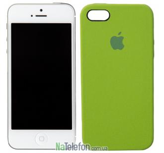 Оригинальный силиконовый чехол для iPhone 5/5s/SE Зеленый