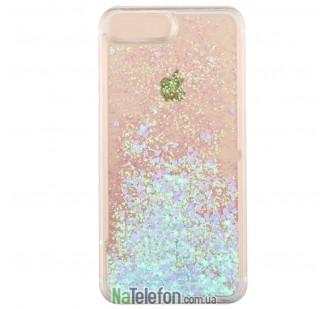 Жидкий чехол Glitter Series 3 для iPhone 7/8 Blue