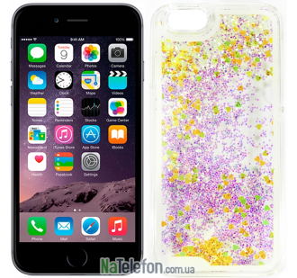 Жидкий чехол Glitter Series 5 для iPhone 6s/6 Yellow