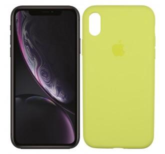 Оригинальный силиконовый чехол для iPhone Xr Лимонный FULL