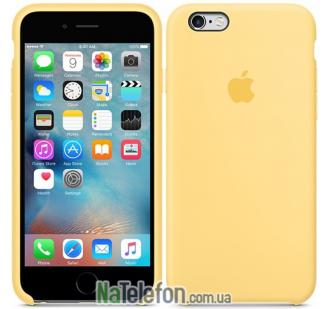 Оригинальный силиконовый чехол для iPhone 6/6s Plus Желтый