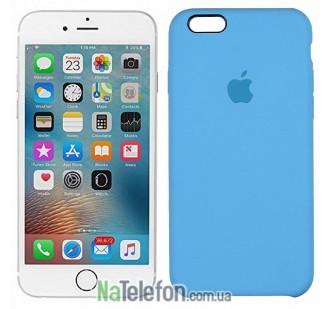 Оригинальный силиконовый чехол для iPhone 6/6s Plus Небесно Синий