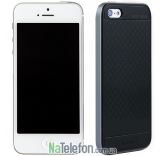 Накладка iPaky (OR) Carbon TPU + Bumper for iPhone 5 Grey