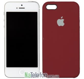 Оригинальный силиконовый чехол для iPhone 5/5s/SE Клюква