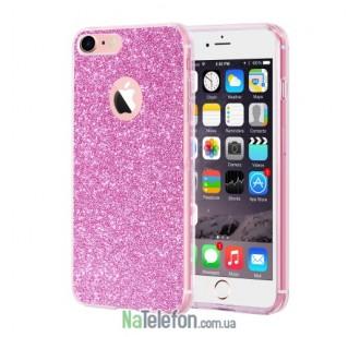 Силиконовый блестящий чехол Remax Glitter Silicon для iPhone 6 Plus Pink