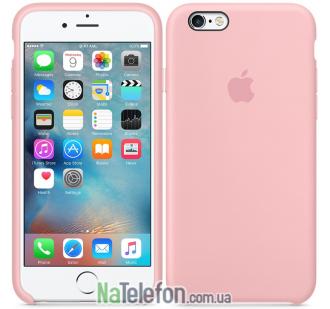 Оригинальный силиконовый чехол для iPhone 6/6s Plus Розовый