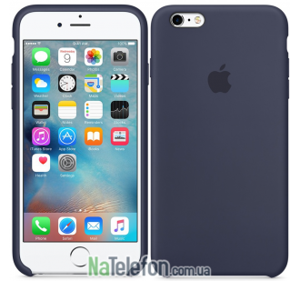 Оригинальный силиконовый чехол для iPhone 6/6s Plus Темно Синий