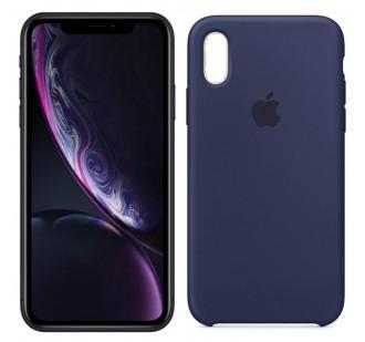 Оригинальный силиконовый чехол для iPhone Xr Темно Синий