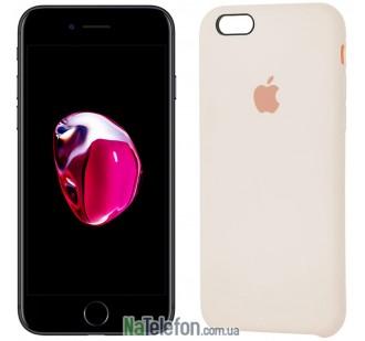 Оригинальный силиконовый чехол для iPhone 6/6s Plus Молочный