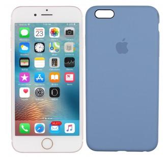 Оригинальный силиконовый чехол для iPhone 6/6s Plus Морской синий FULL