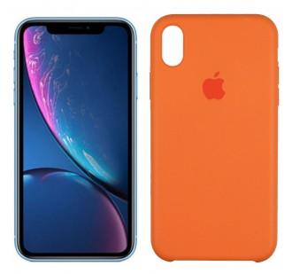 Оригинальный силиконовый чехол для iPhone Xr Светло-персиковый