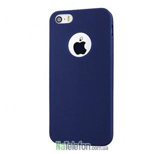 Оригинальный силиконовый чехол для iPhone 5/5s/SE Синий