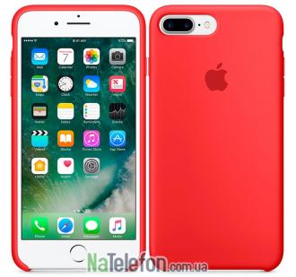Оригинальный силиконовый чехол для iPhone 7/8 Plus Красный