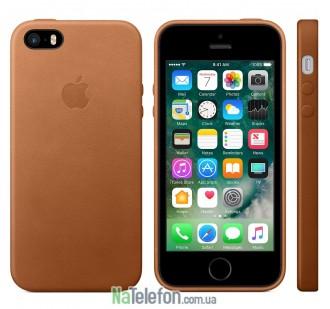 Оригинальный силиконовый чехол для iPhone 5/5s/SE Коричневый