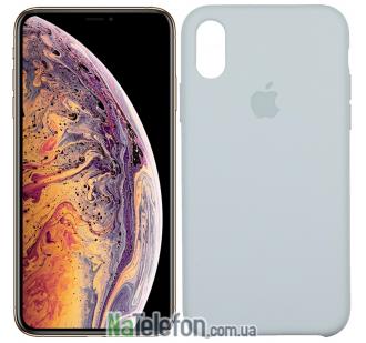 Оригинальный силиконовый чехол для iPhone Xs Max Светло Серый