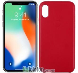 Чехол Apple Leather Case для iPhone Xr Hot Pink
