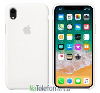 Оригинальный силиконовый чехол для iPhone Xr Белый