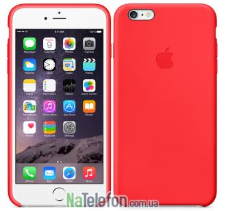Оригинальный силиконовый чехол для iPhone 6/6s Plus Красный