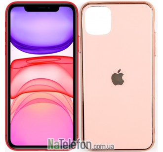 Чехол U-Like Glossy Logo case для iPhone 11 Pro Max Pink