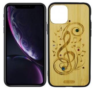 Чехол Bamboo Wooden Case with Diamonds для iPhone 11 (5.8) Мелодия