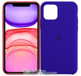 Оригинальный силиконовый чехол для iPhone 11 Pro Темно Фиолетовый