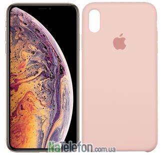 Оригинальный силиконовый чехол для iPhone Xs Max Розовый