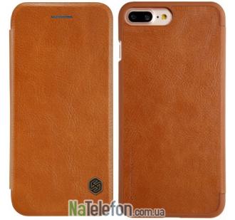 Кожаный чехол книжка NILLKIN Qin series для iPhone 7 Plus Brown