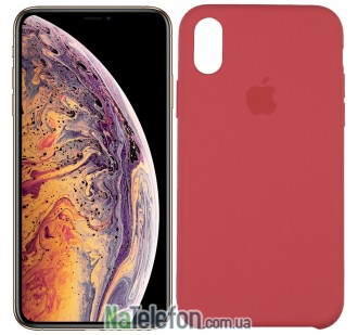 Оригинальный силиконовый чехол для iPhone Xr Кораловый
