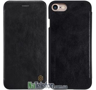 Кожаный чехол книжка NILLKIN Qin series iPhone 8 Black