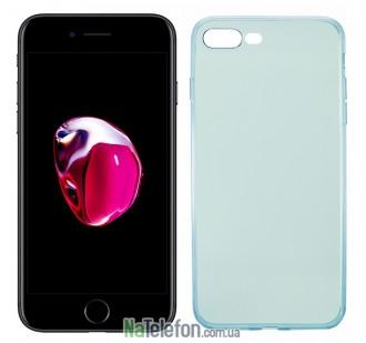 Ультра тонкий силиконовый чехол Remax 0.2 mm для iPhone 7 Plus Blue