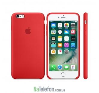 Оригинальный силиконовый чехол для iPhone 5/5s/SE Красный