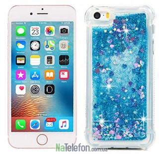 Жидкий чехол Glitter Series 2 для iPhone 7/8 Blue