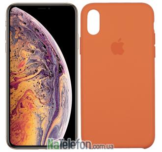 Оригинальный силиконовый чехол для iPhone Xr Оранжевый