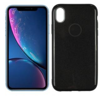 Чехол Silicone 3in1 Блёстки для iPhone XR Black