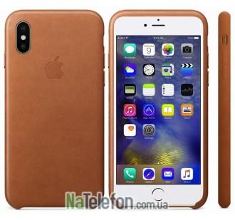 Оригинальный силиконовый чехол для iPhone X/Xs Коричневый